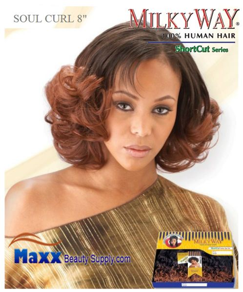 MilkyWay Human Hair Weave Short Cut Series - Soul Curl 8""